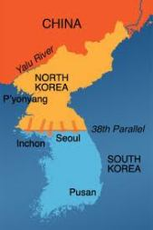 Korean invasion map