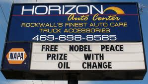 Nobel Prize oil change