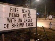 Nobel Prize tacos