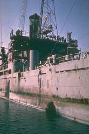 USS Liberty torpedo damage
