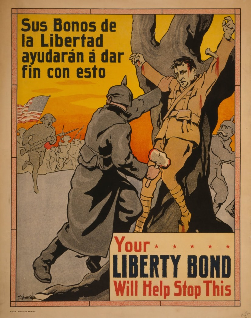 Liberty bonds crucified soldier