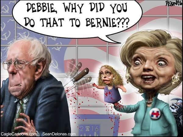 Hillary Debbie Bernie