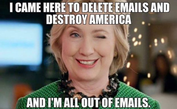 Hillary Out of Emails