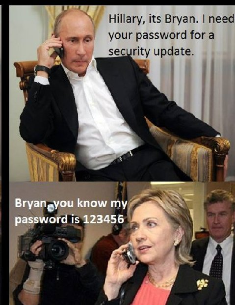 Hillary password