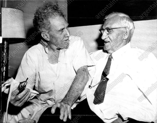 Ezra_Pound_in_1958,_with_Usher_Burdick_3