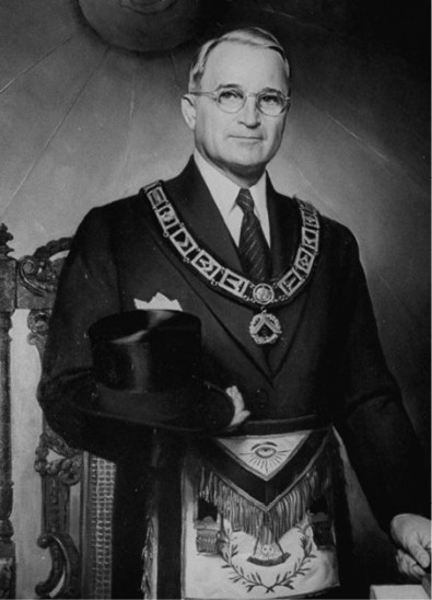 Truman Freemasonic garb