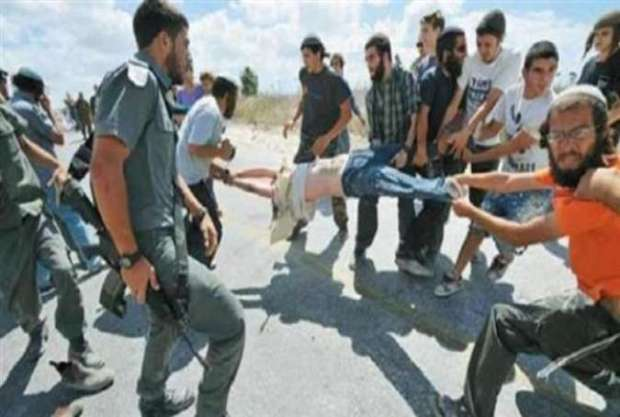 Israeli settlers attack Palestinian
