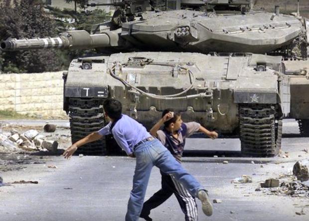 Tank versus children